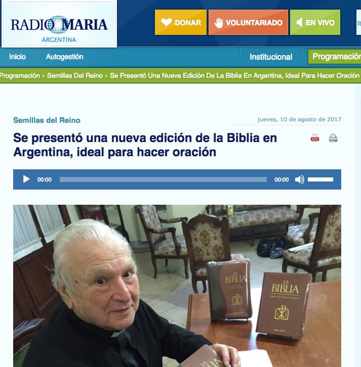 Radio María y la nueva edición de la Biblia