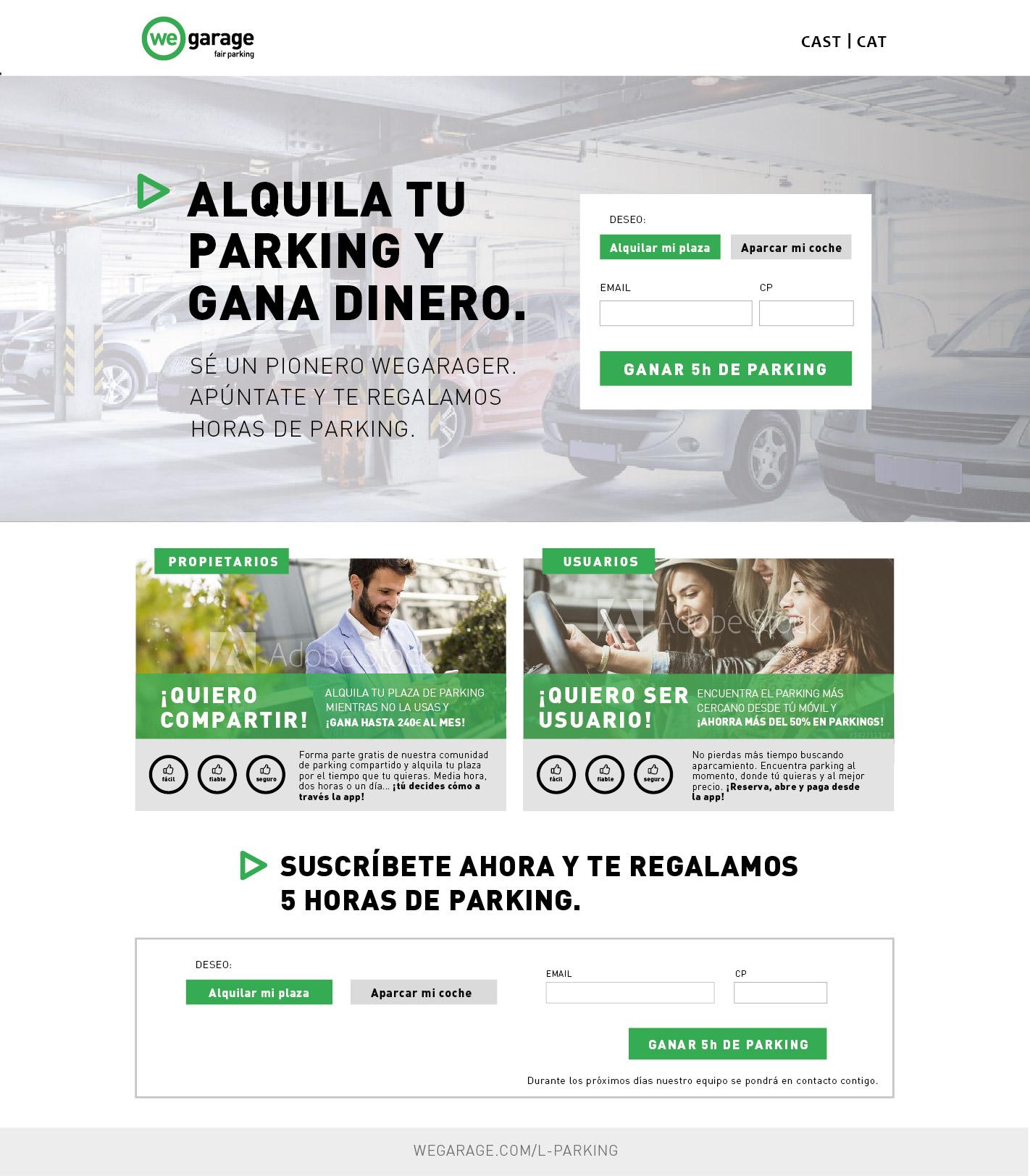 Landing Website WeGarage