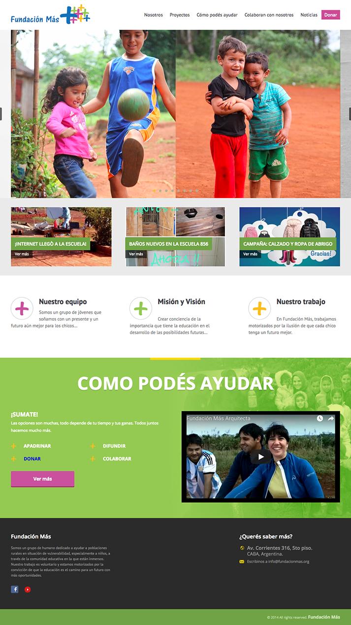Mockup website Fundación Más