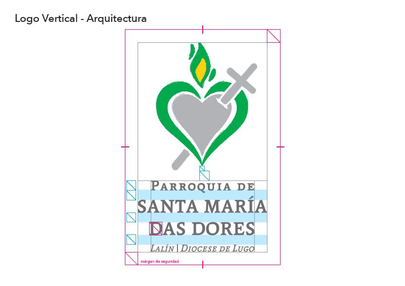 Arquitectura del Logo Vertical Parroquia Santa María Das Dores