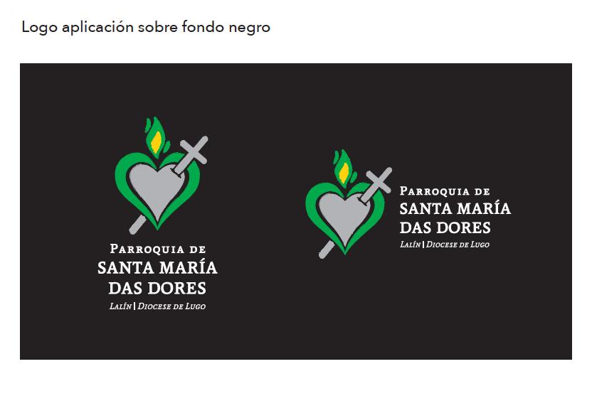 Logo Parroquia Santa María Das Dores (fondo negro)