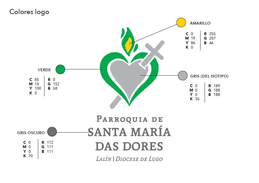 Colores del Logo Parroquia Santa María Das Dores