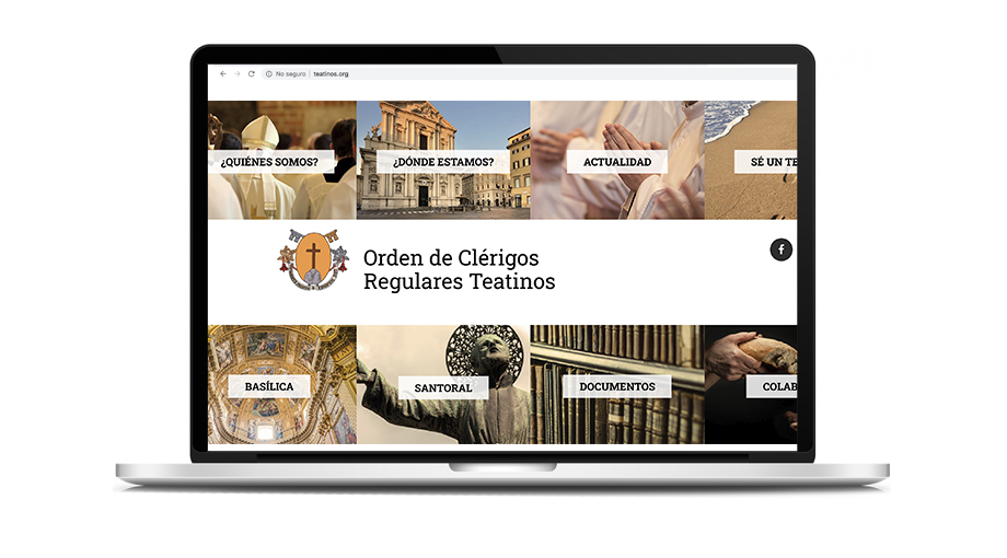 Mockup website Orden de Clérigos Regulares Teatinos (home)