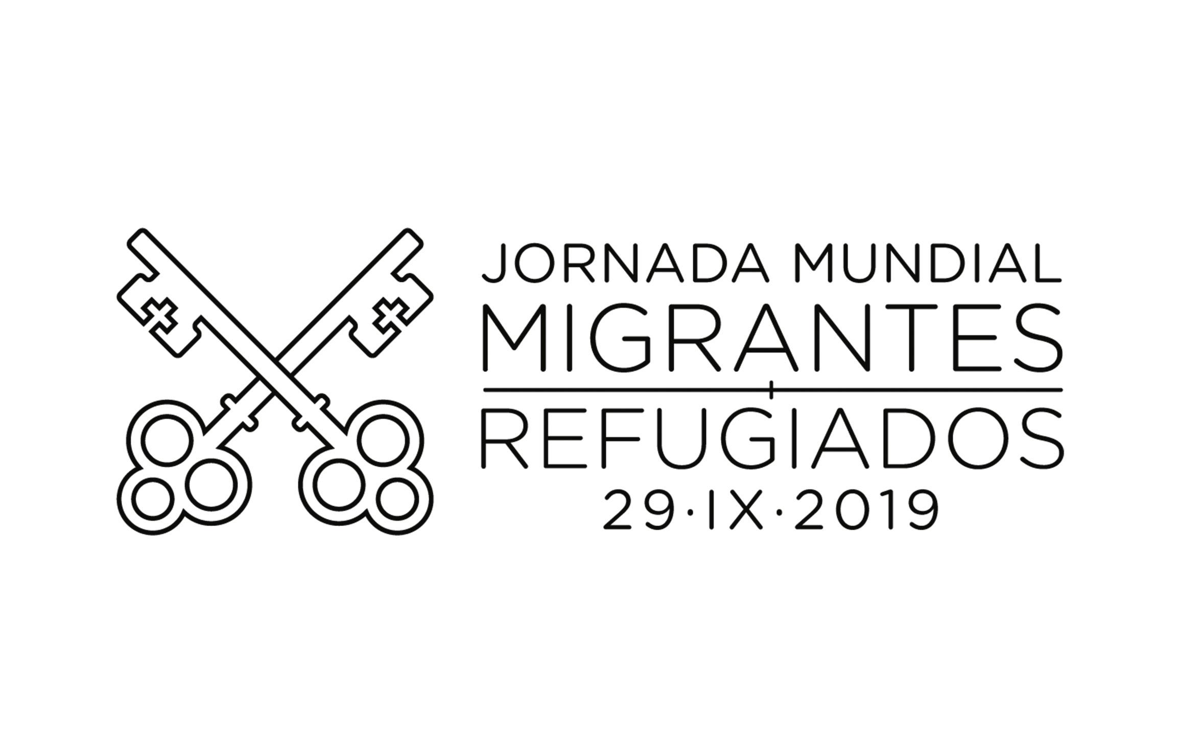 Logo Jornada Mundial Migrantes y Refugiados 2019