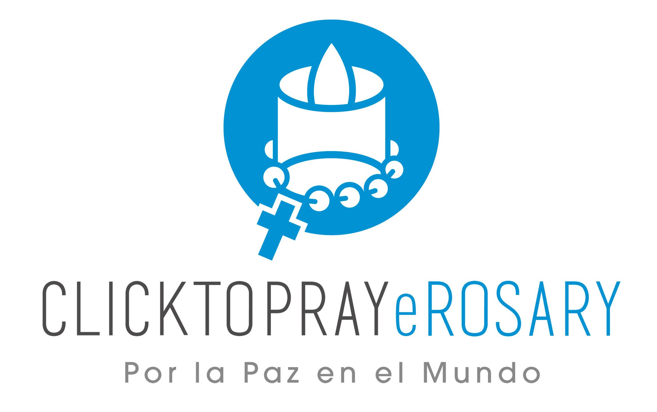 Logo Click To Pray eRosary (Por la Paz en el Mundo)