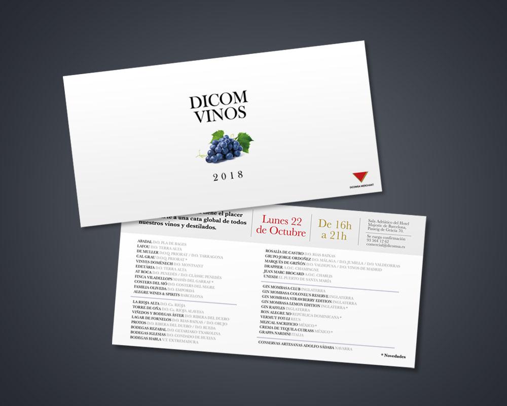 Mockup invitación DICOM Vinos 2018